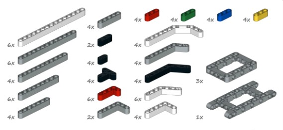 Детали LEGO Mindstorms EV3 Education