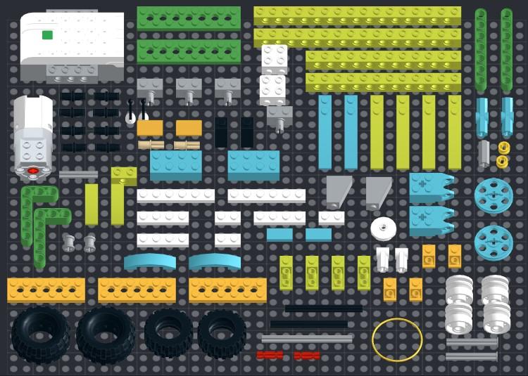 Инструкция из 101 детали модели Бэтмобиль для Lego WeDo 2.0