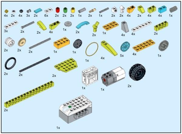 Инструкция из 113 деталей модели Веселый автопоезд для Lego WeDo 2.0
