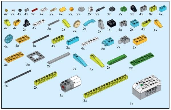 Инструкция из 138 деталей модели Лиса для Lego WeDo 2.0