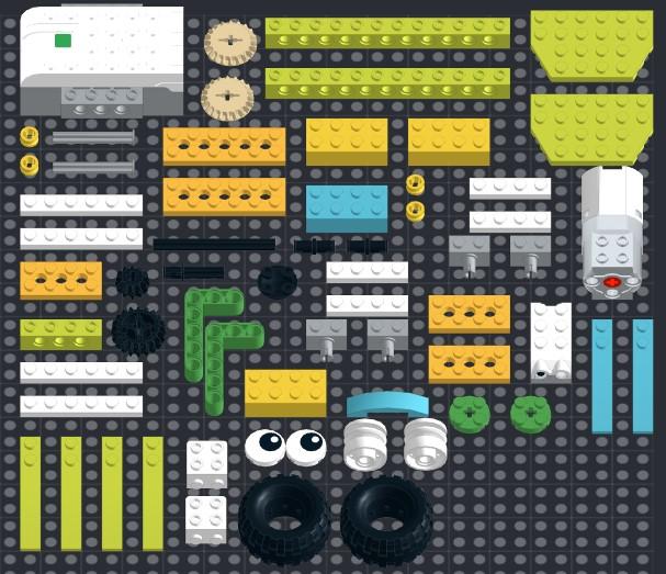Инструкция из 63 деталей модели Неуклюжая утка для Lego WeDo 2.0