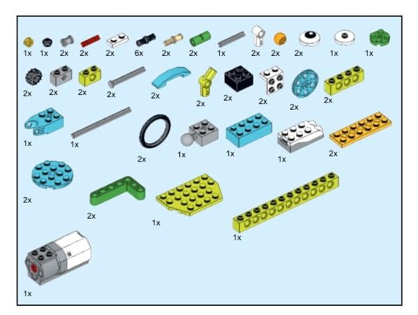 Инструкция из 65 деталей модели Щенок для Lego WeDo 2.0