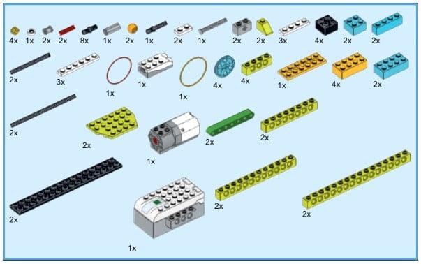 Инструкция из 78 деталей модели Гимнаст для Lego WeDo 2.0