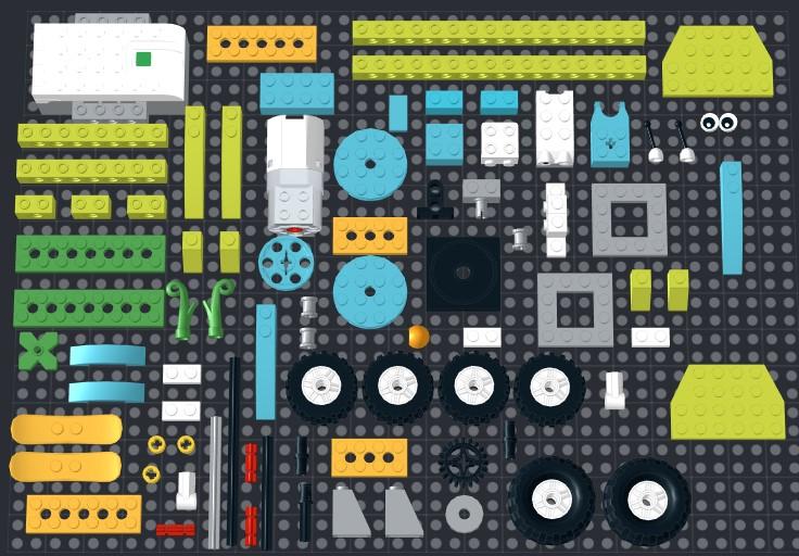 Скачать инструкцию из 93 деталей модели Трактор с прицепом для Lego WeDo 2.0
