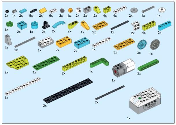 Скачать инструкцию из 98 деталей модели Самолет на виражах для Lego WeDo 2.0