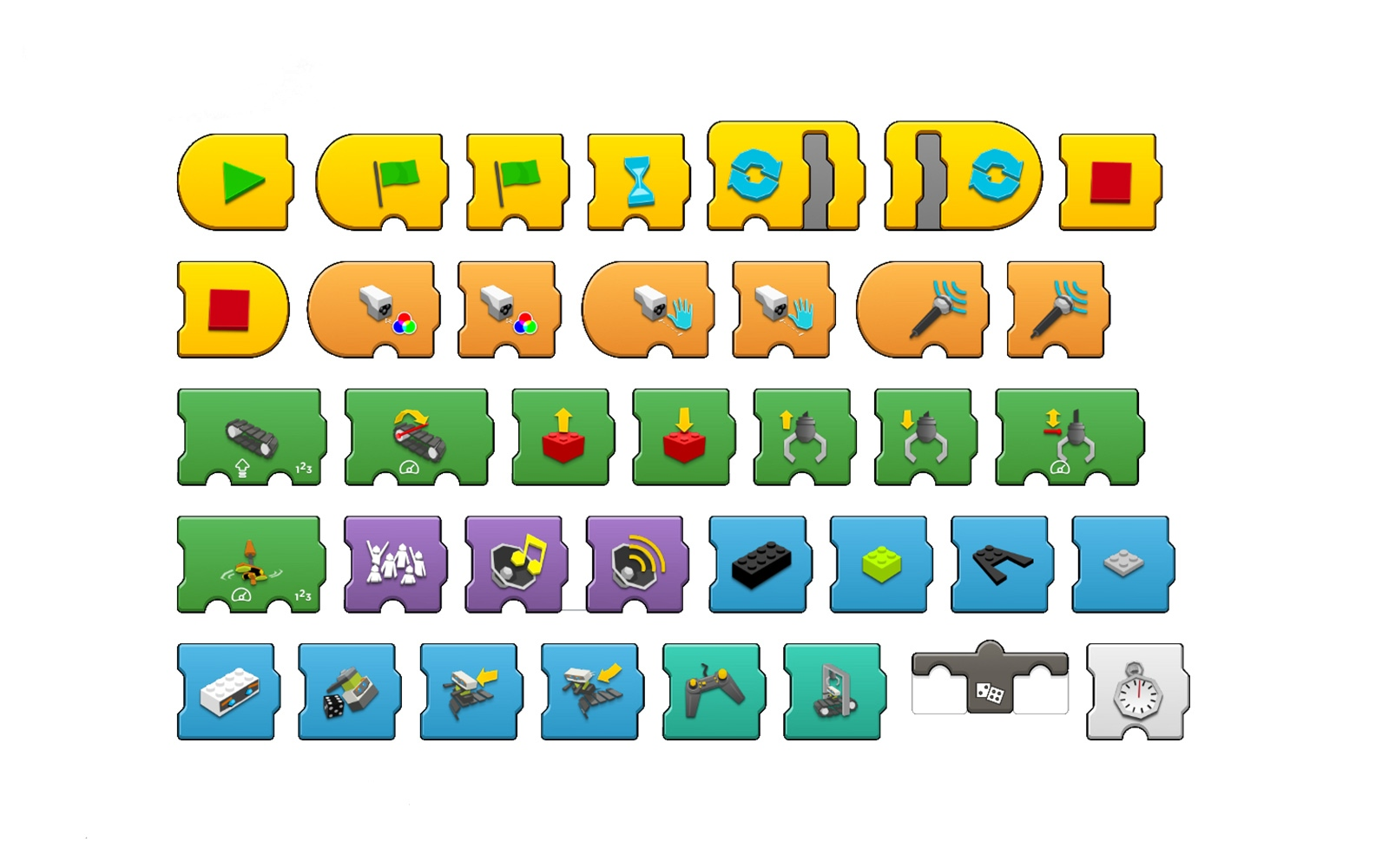 Lego Boost блоки программирования