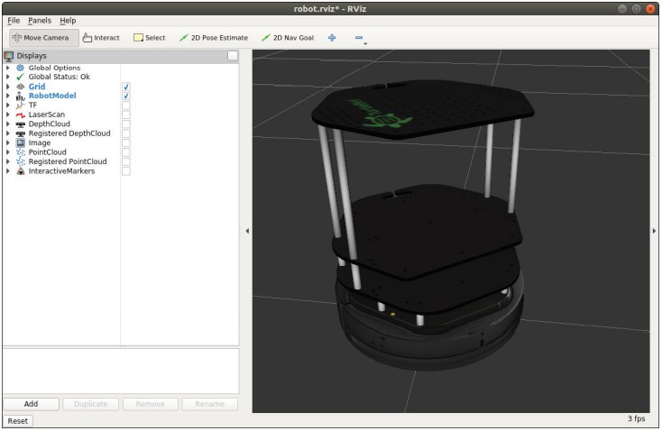 Визуализация TurtleBot 2 в RViz