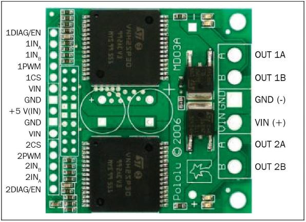 Двухканальный контроллер двигателя Dual VNH2SP30 Motor Driver Carrier MD03A
