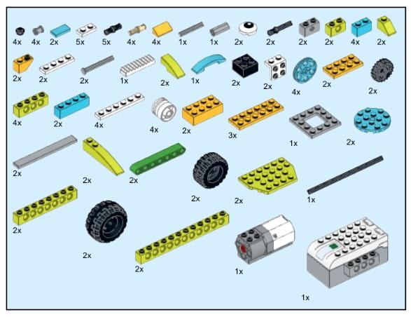 Инструкция из 107 деталей модели Горилла для Lego WeDo 2.0