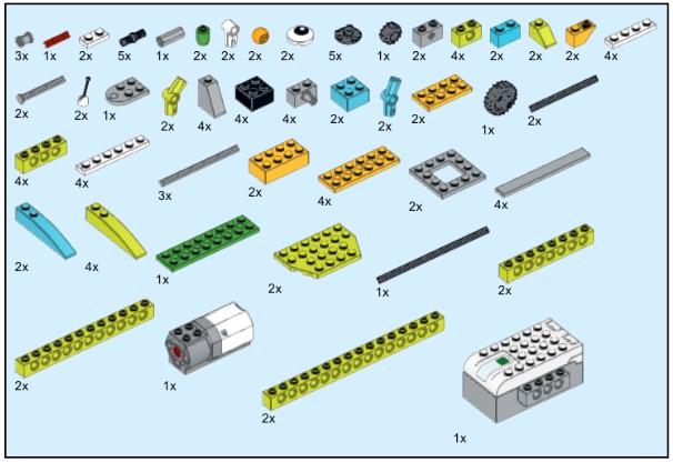 Инструкция из 111 деталей модели Паук для Lego WeDo 2.0