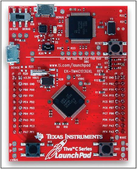 Плата контроллера Tiva C LaunchPad