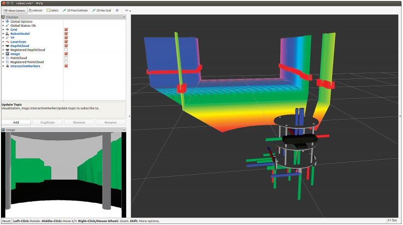 Создание карты в Rviz с помощью Gmapping