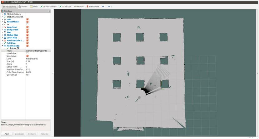 Финальная карта, построенная с помощью Gmapping