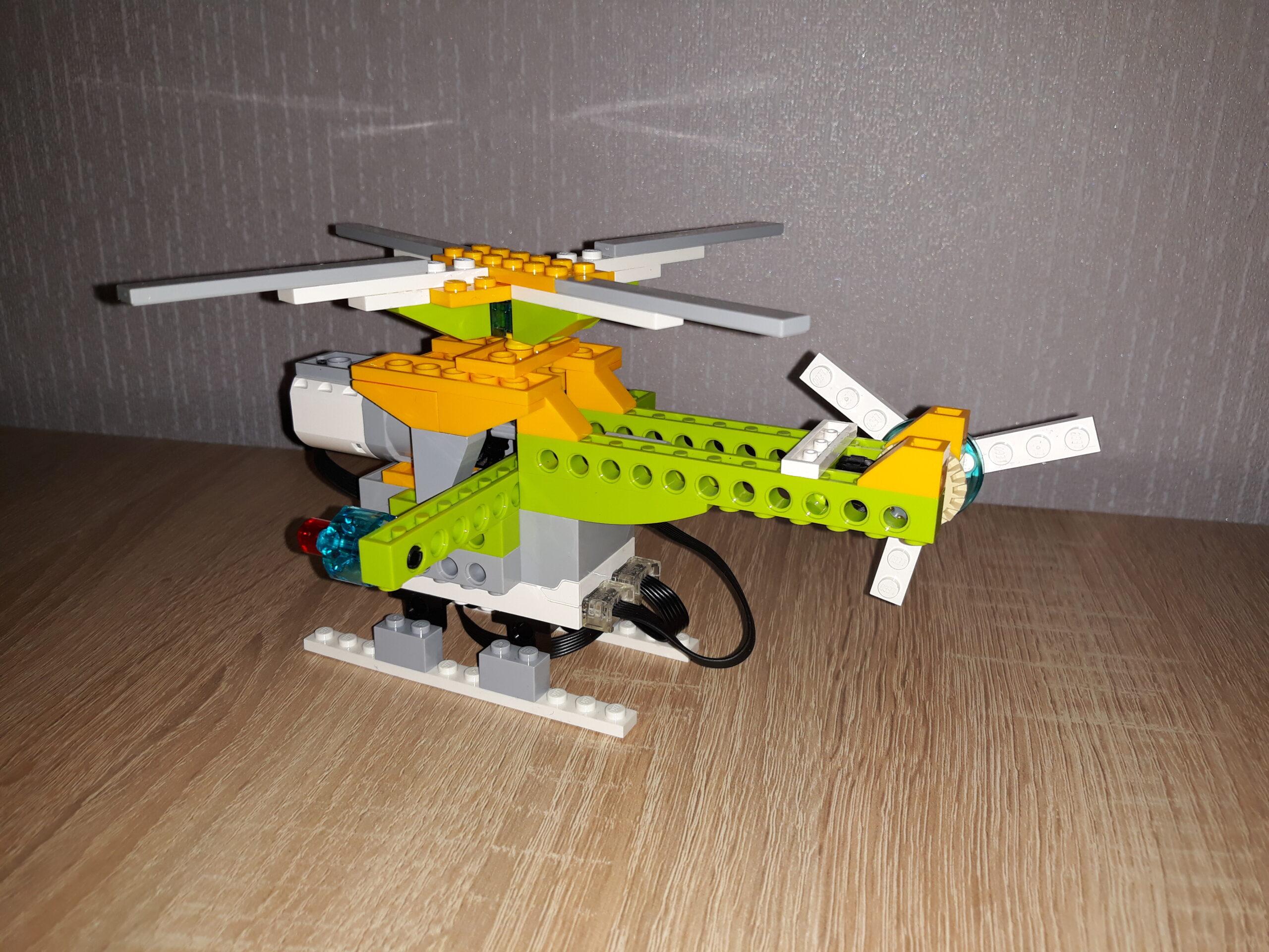 Зад инструкция по сборке из набора LEGO Education WeDo 2.0 Вертолетик