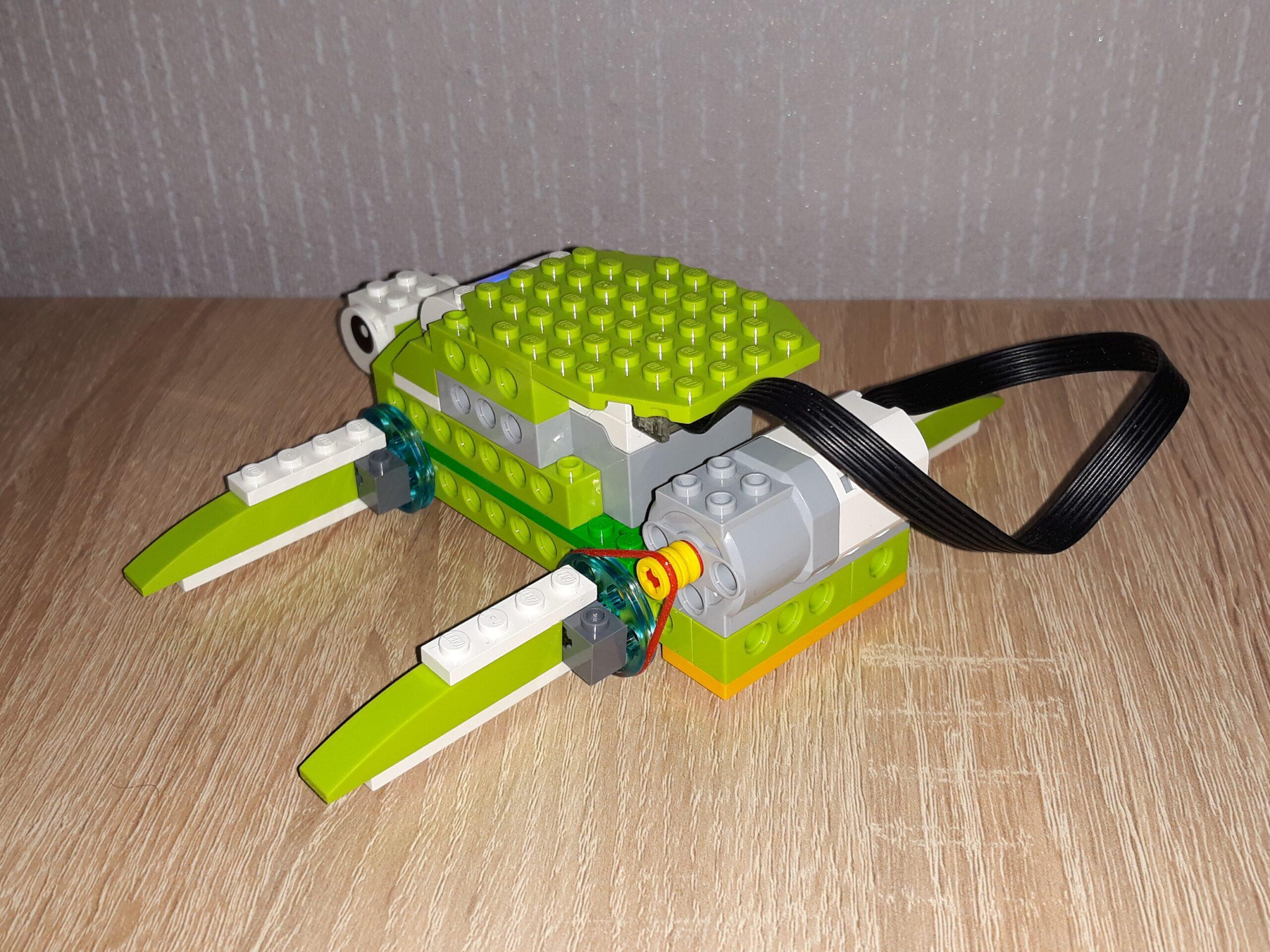 Схема сборки для набора LEGO Education WeDo 2.0 Черепашка