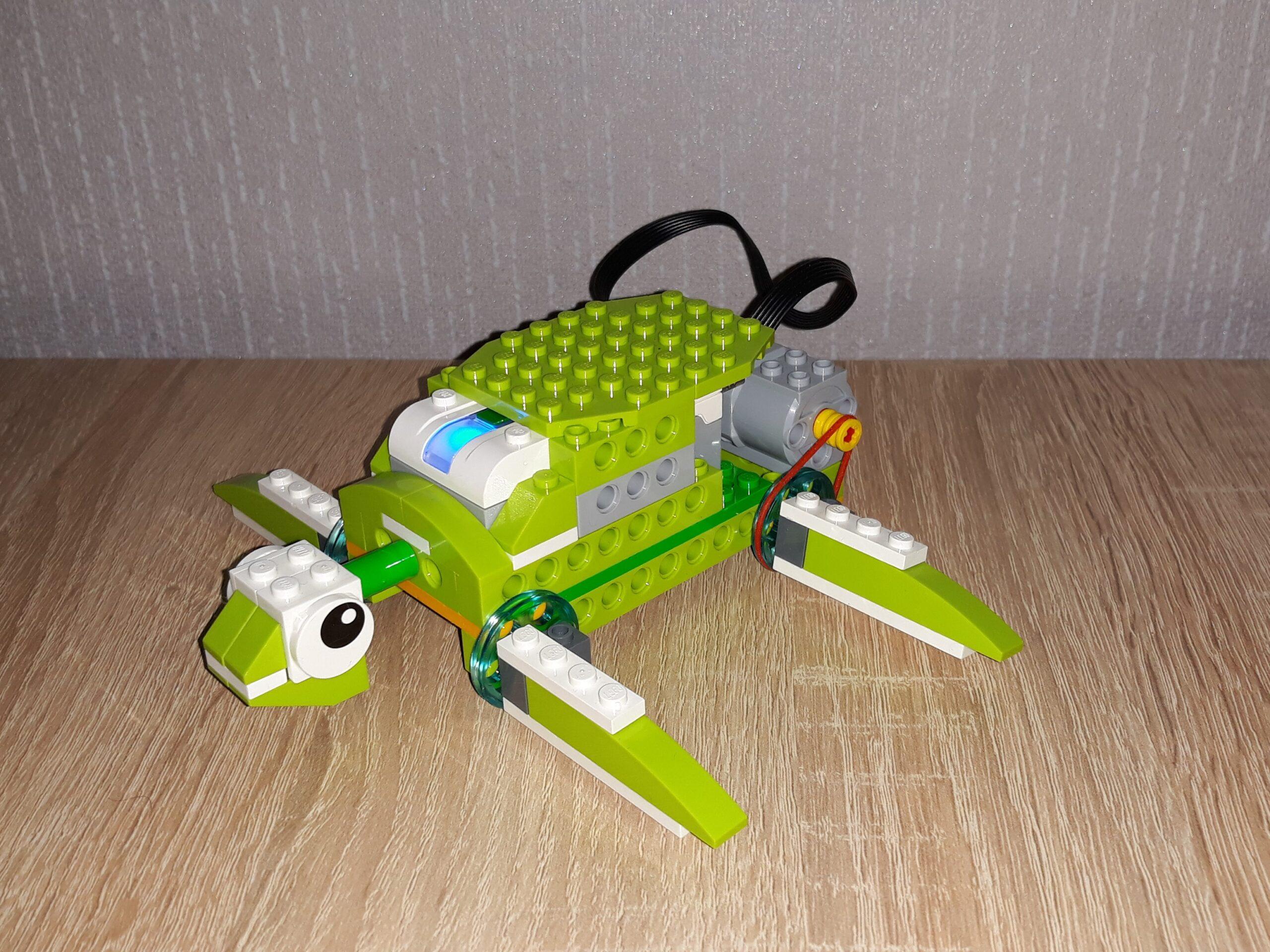 Пошаговая инструкция по сборке из набора LEGO Education WeDo 2.0 Черепашка