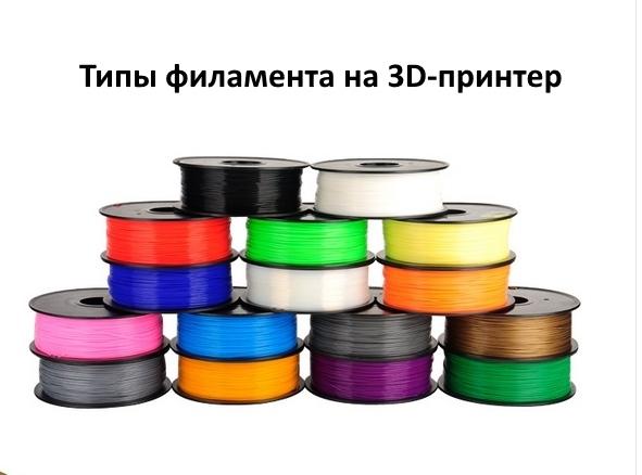 Типы филамента на 3D-принтер