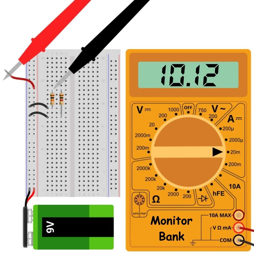 Измерение силы тока всей цепи