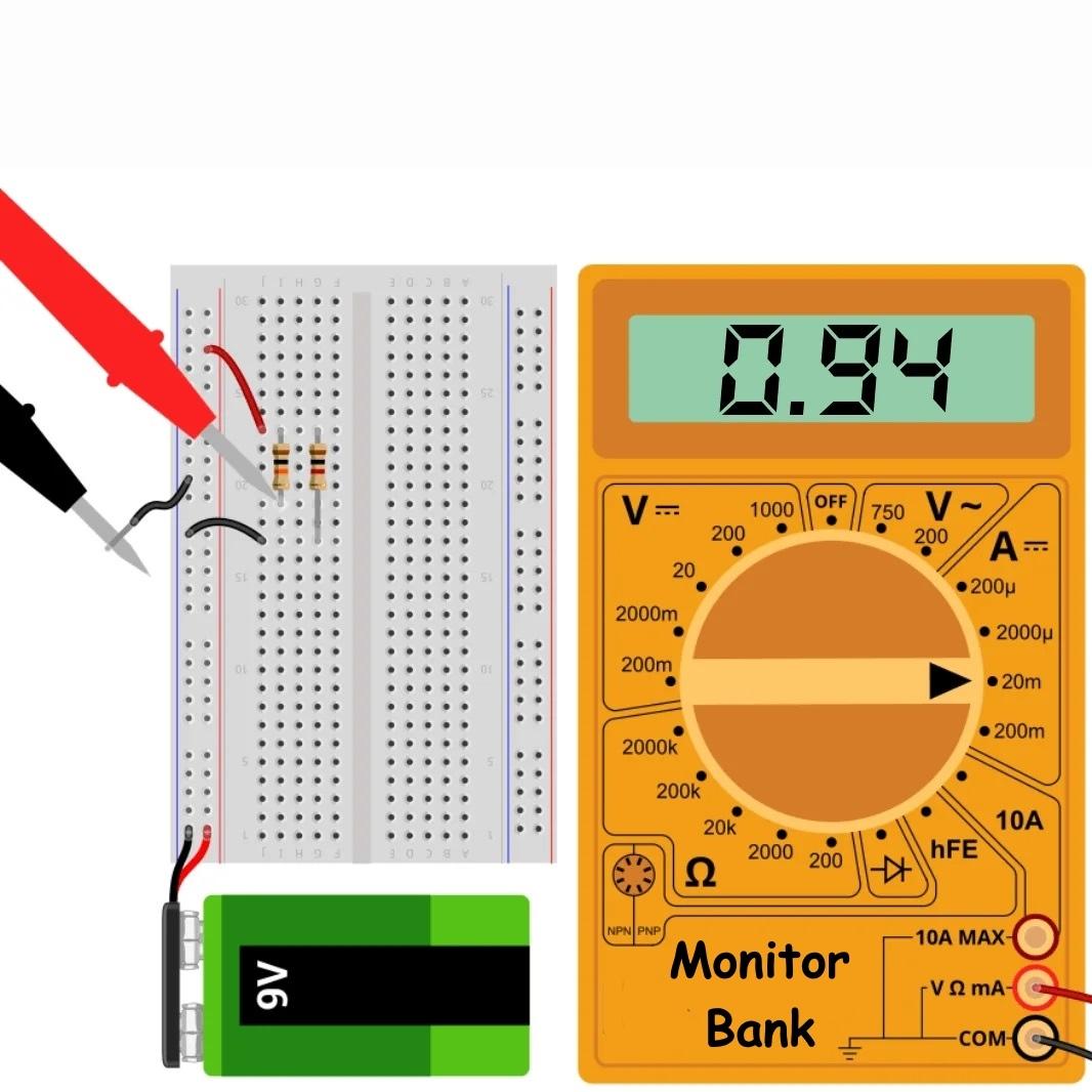 Измерение тока резистора R = 10к