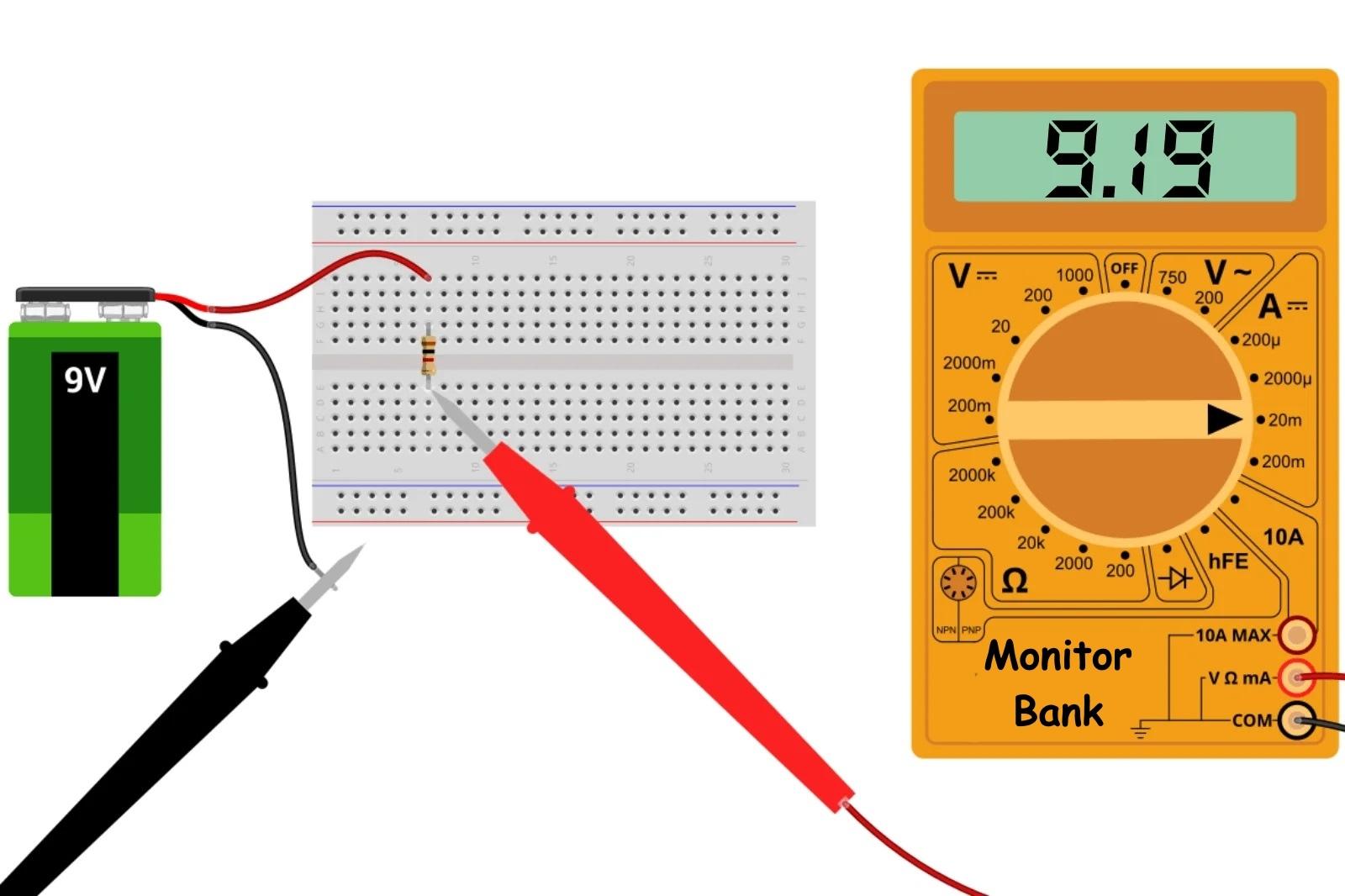 Измерение тока 1 кОм