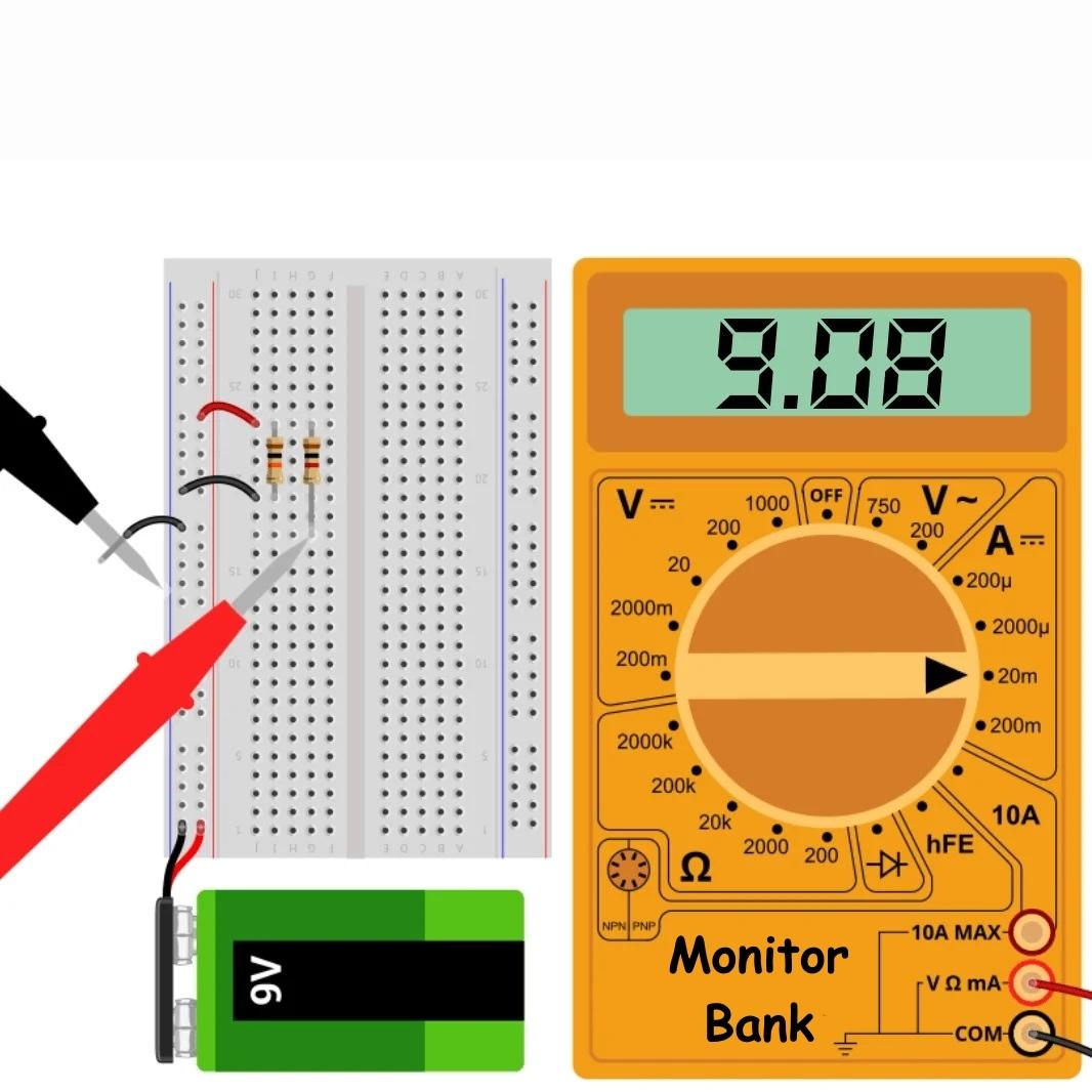 Измерение тока R = 1к