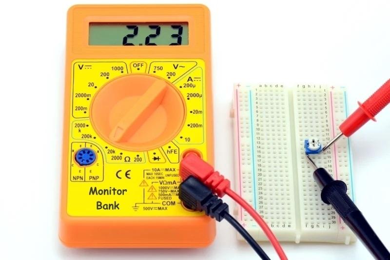 Измерения сопротивления потенциометра после