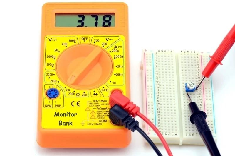 Измерения сопротивления потенциометра