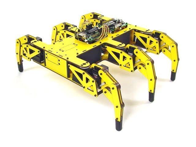 Лапы, расставленные по обеим сторонам робота