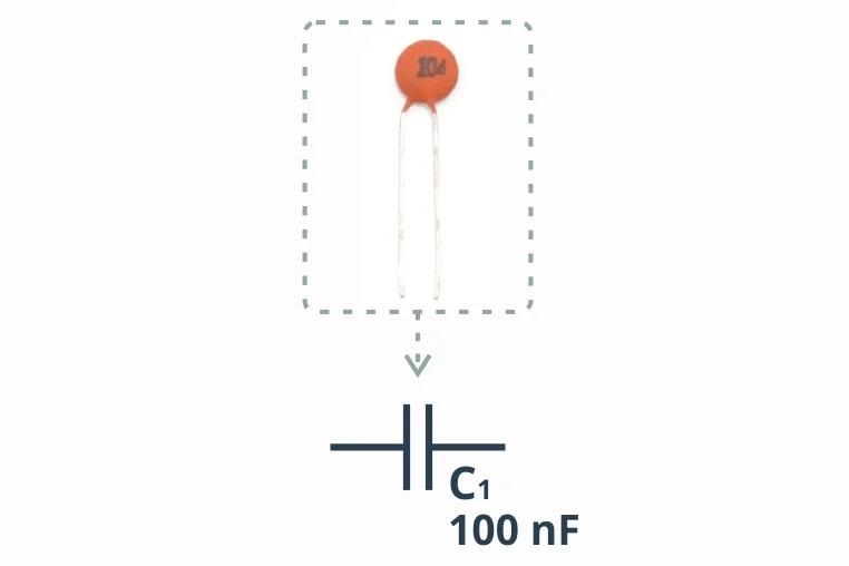 Пример керамического конденсатора