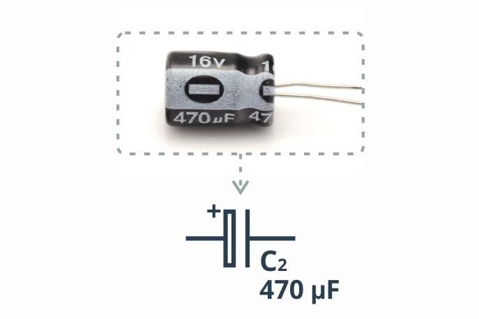 Пример электролитического конденсатора
