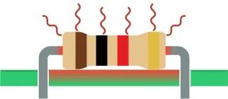 Резистор преобразует электрическую энергию в тепловую