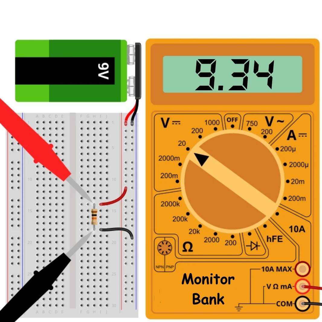Резистор 10 кОм подключен