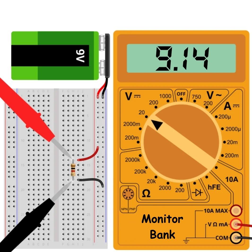Резистор 1k подключен