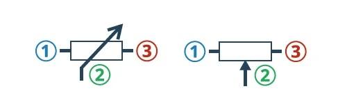 Символы потенциометров