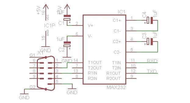 Схема RS232