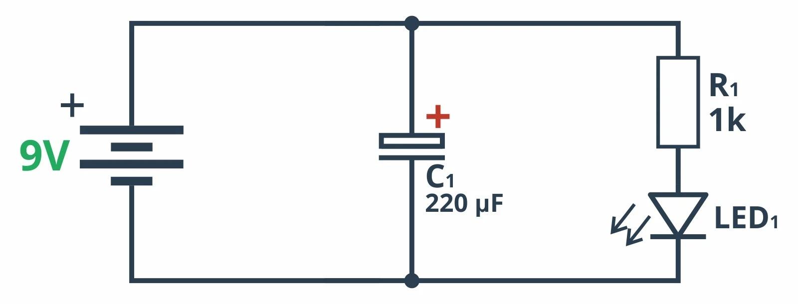 Схема для подключения конденсатора