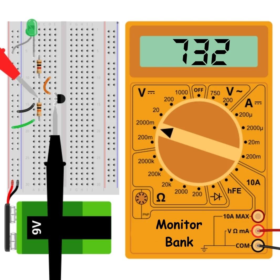 Измерение напряжения база-эмиттер