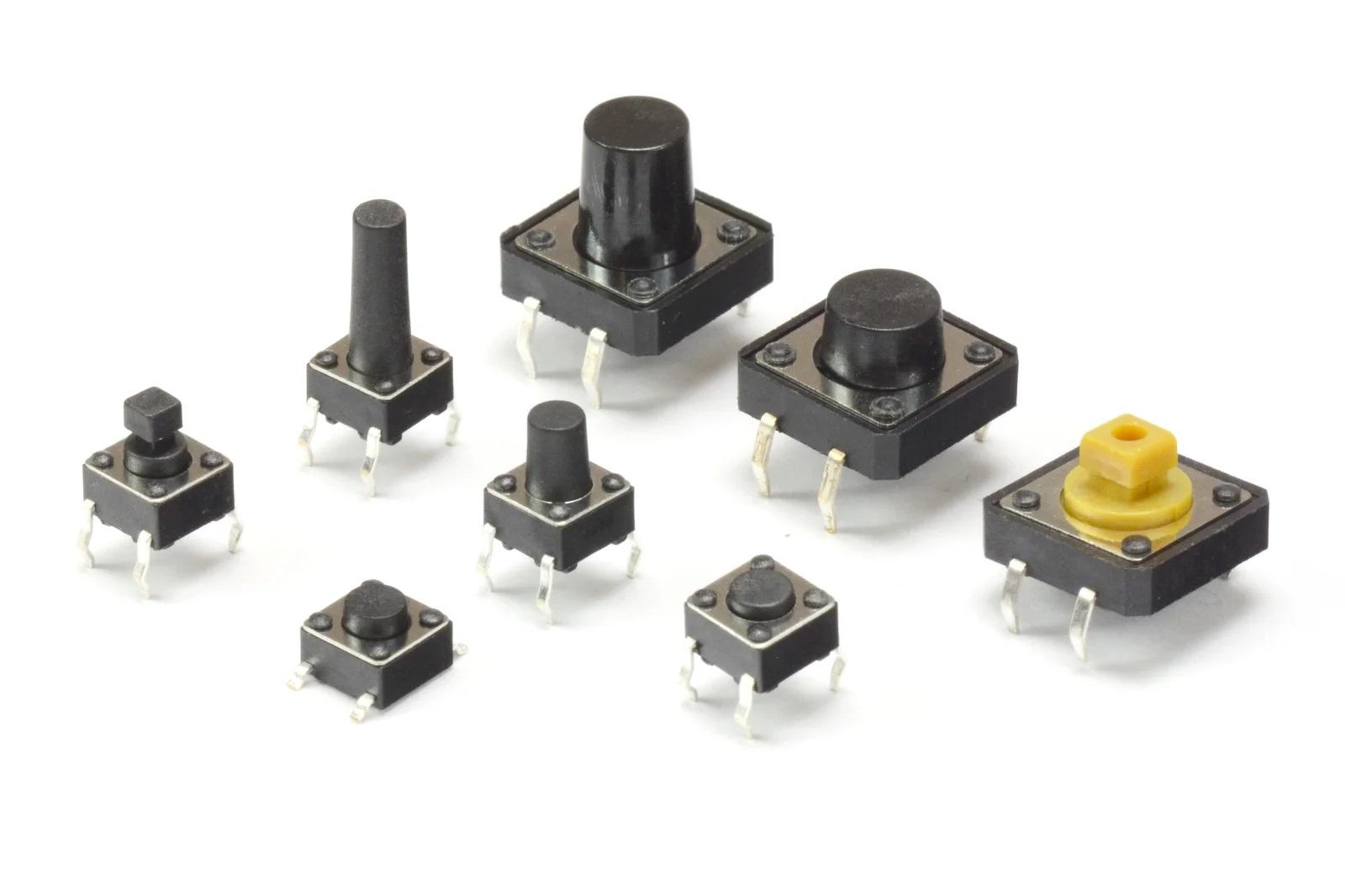 Примеры переключателей в различных корпусах и размерах
