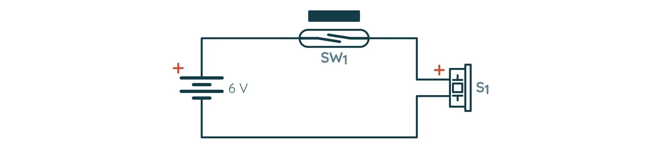 Принципиальная схема проверки геркона и зуммера