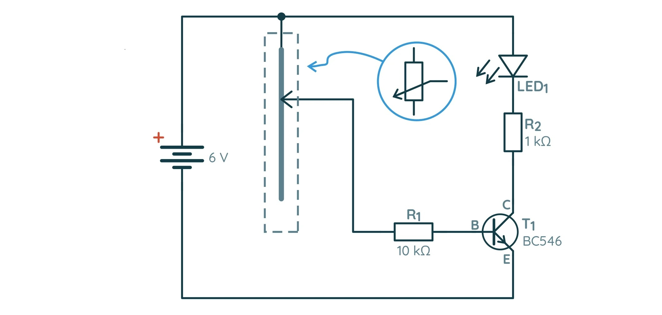 Принципиальная схема усиления BC546
