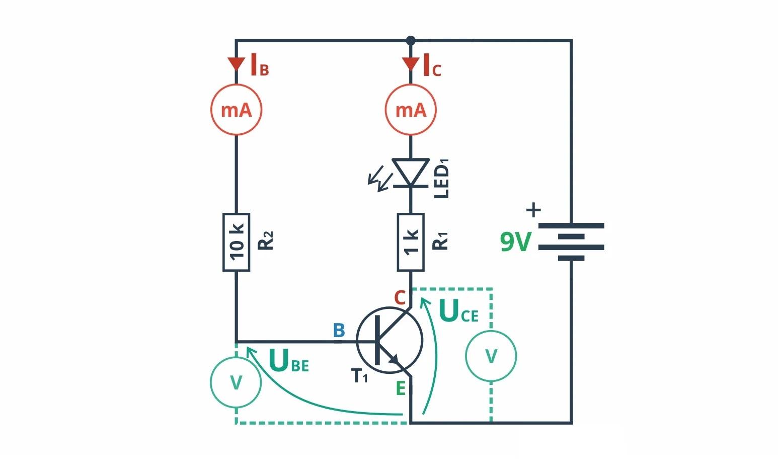 Схема с NPN транзистором