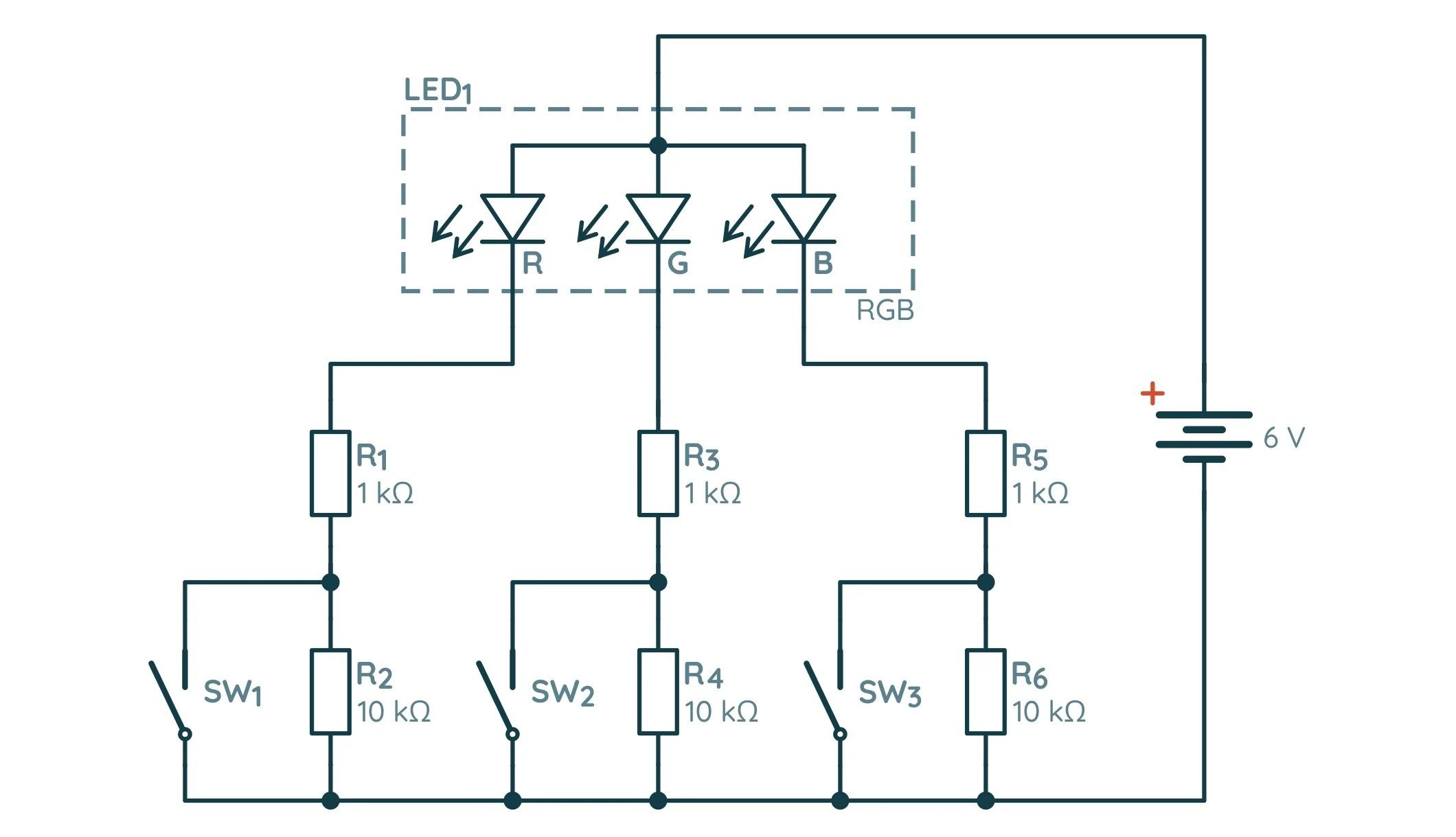 Схема с RGB-диодом