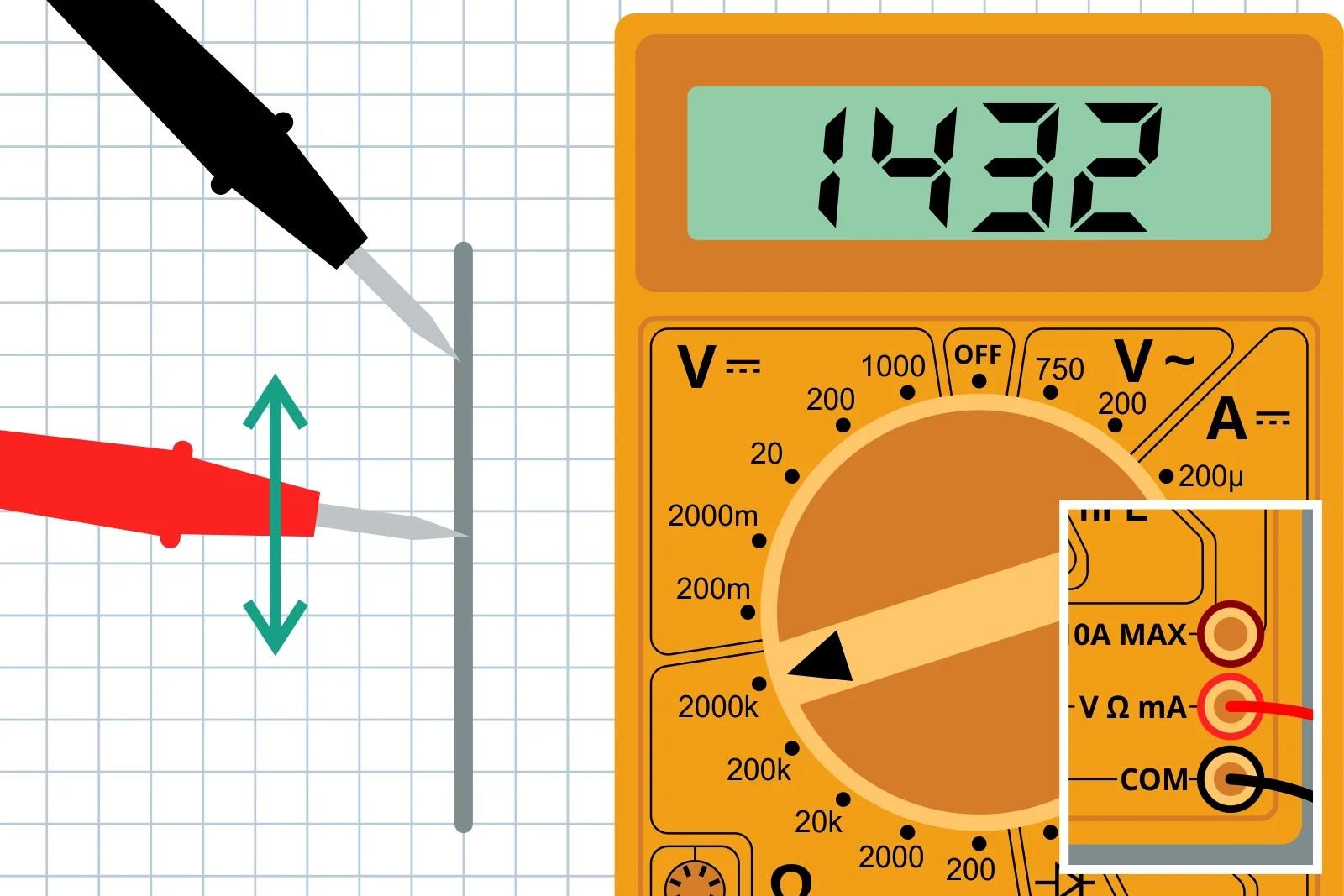 Измерение сопротивление линии, проведенной карандашом