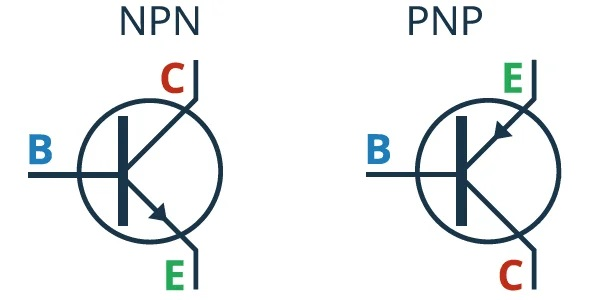 Условные обозначения транзисторов NPN и PNP