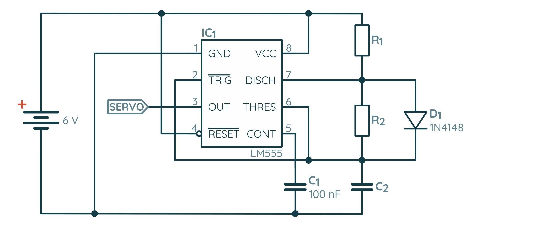 Измененная схема NE555