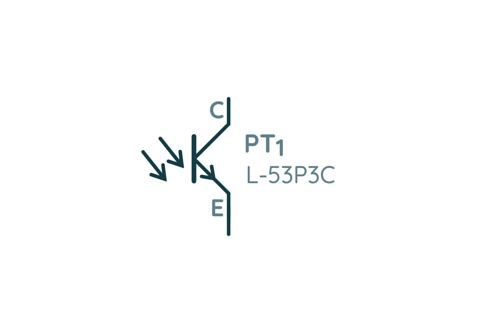 Обозначение фототранзистора