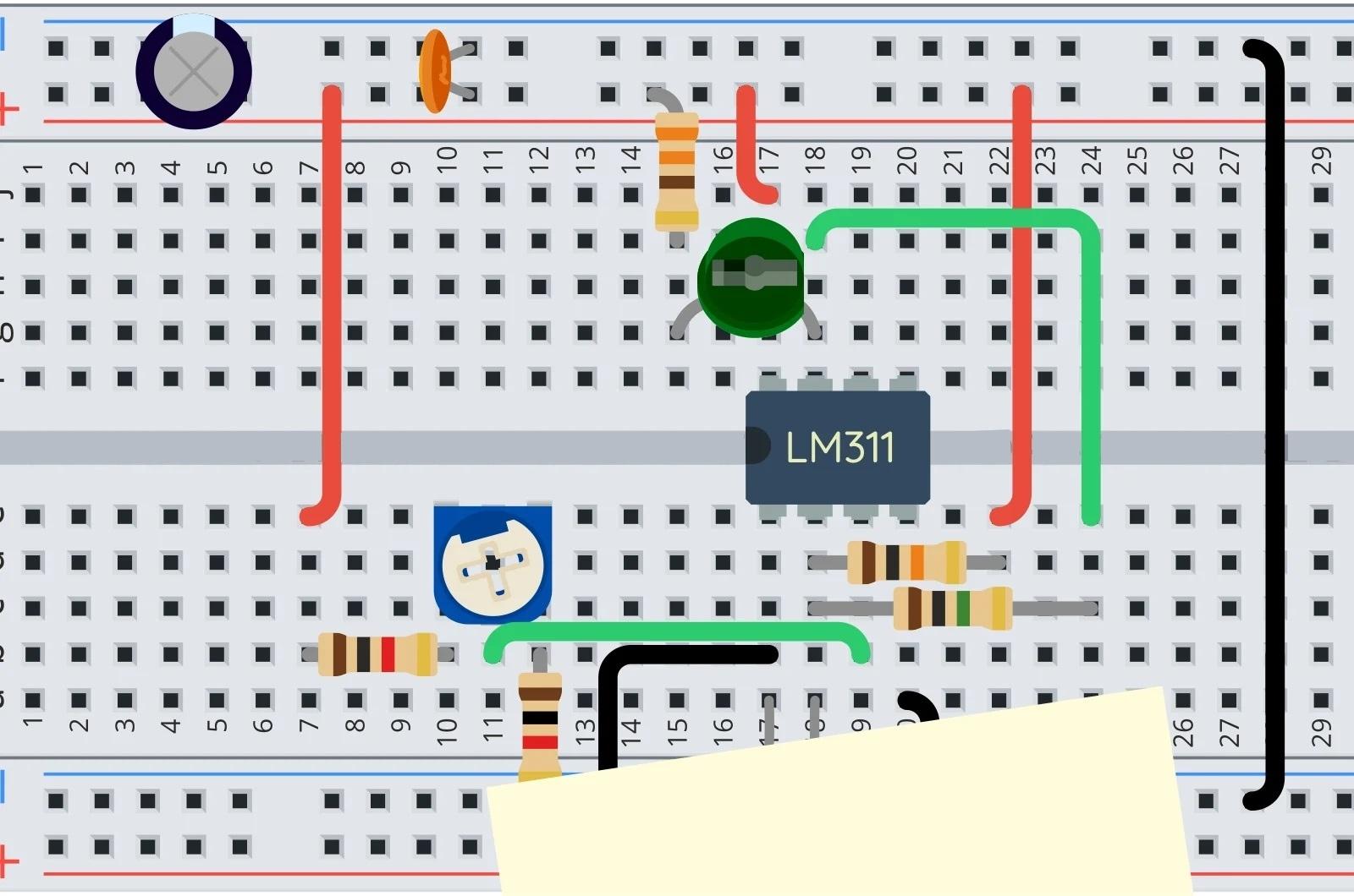 Фоторезистор накрыт