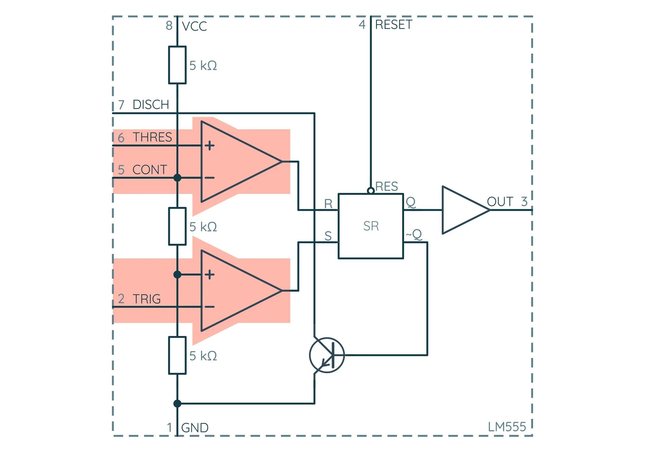 NE555 Компараторы напряжения