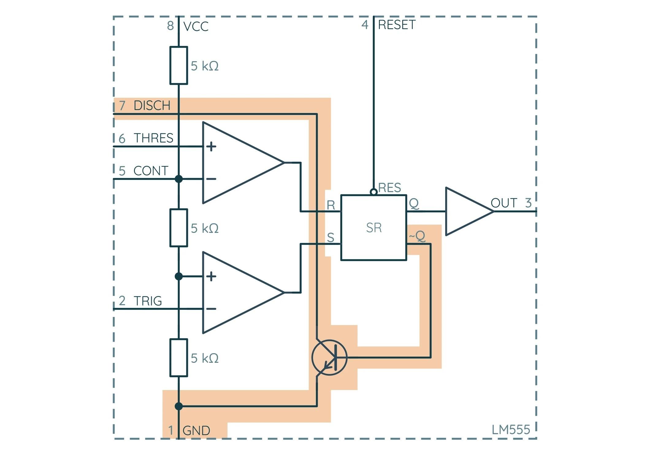 NE555 Транзистор