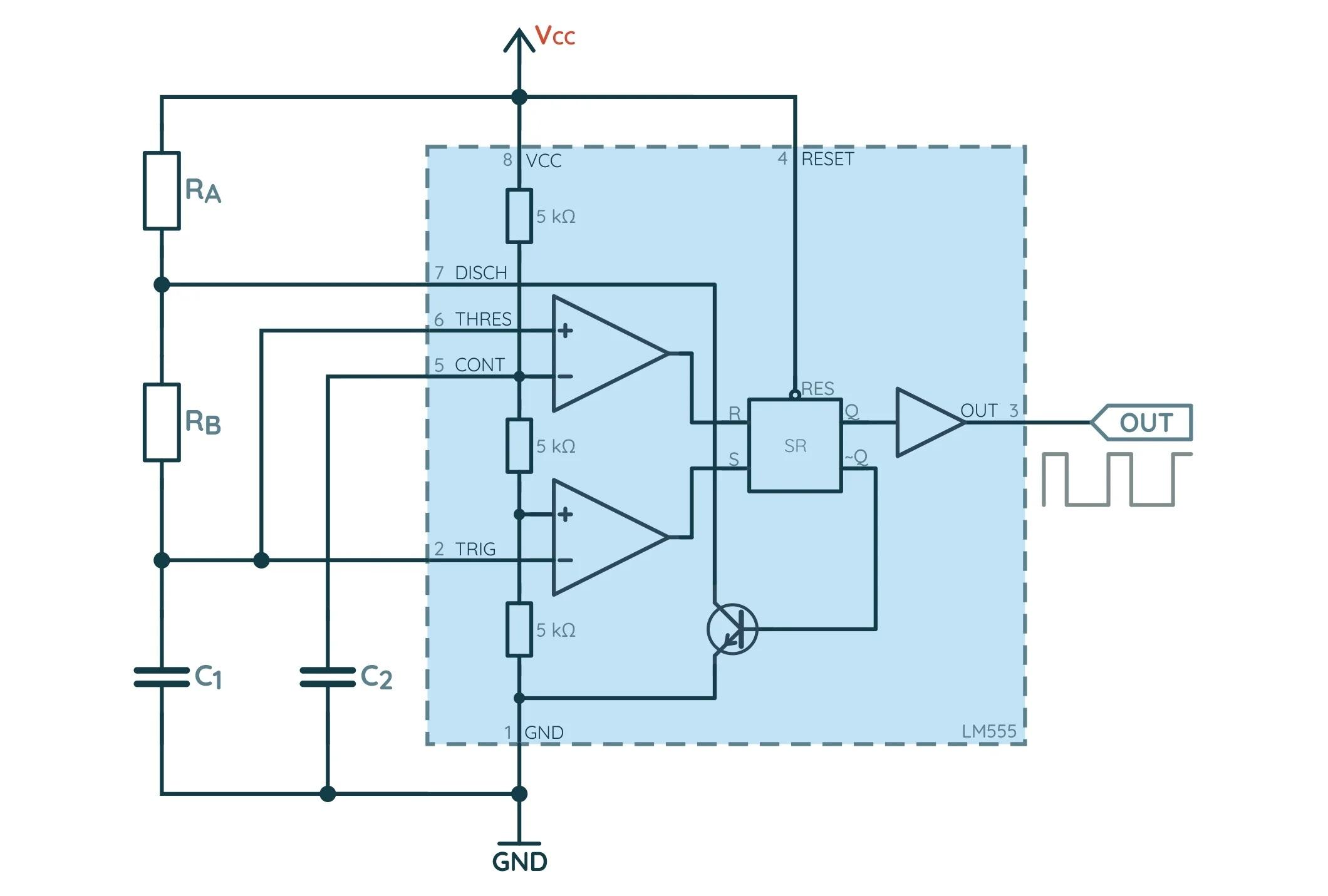 NE555 нестабильный генератор